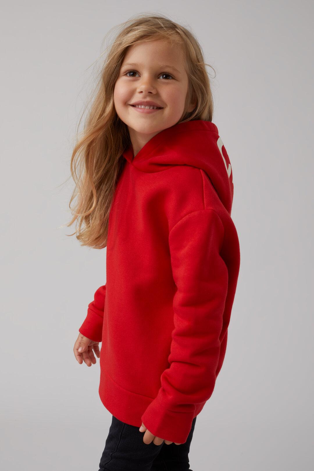 Sweatshirt à capuche avec logo Closed-Enfant
