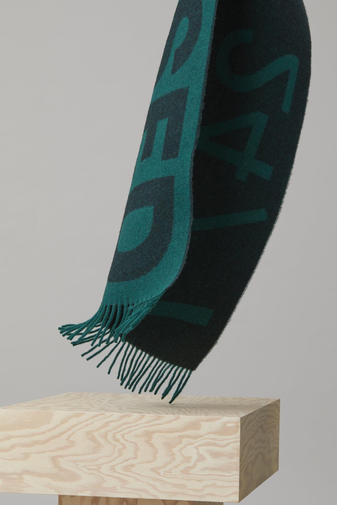 Wool Mix Jacquard Scarf