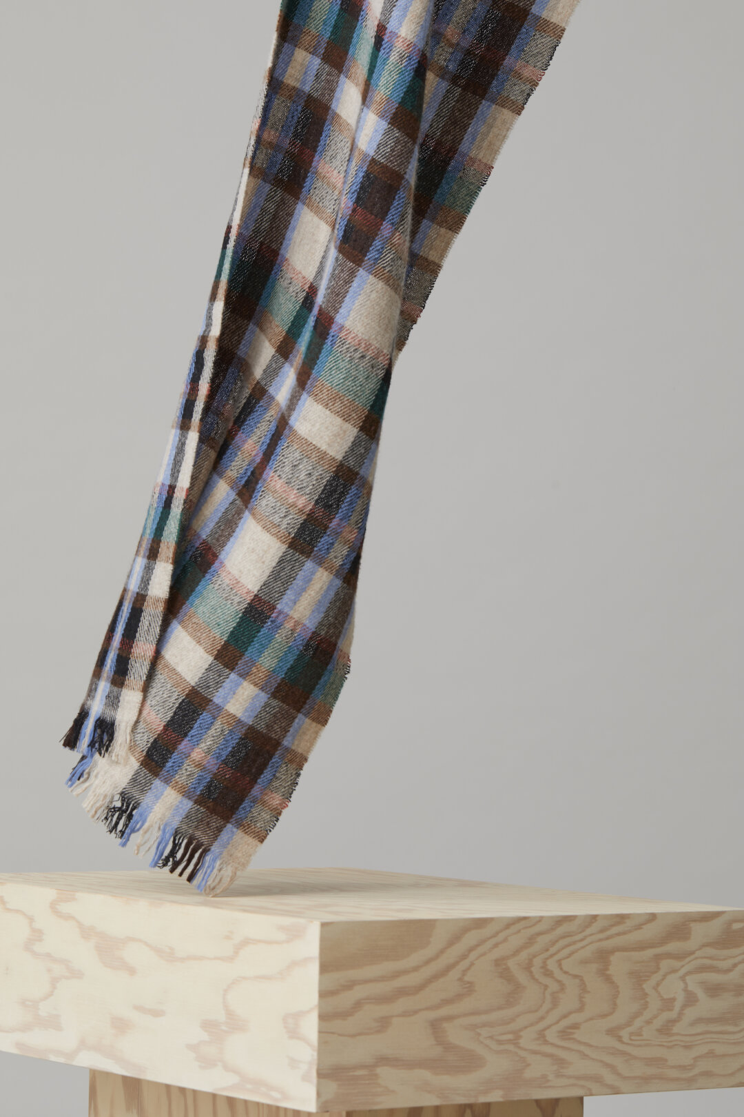 Wool Mix Check Scarf