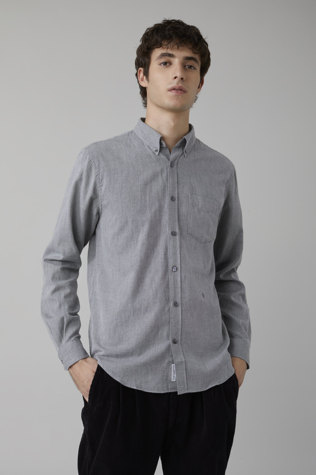 Button Down Shirt aus Twill