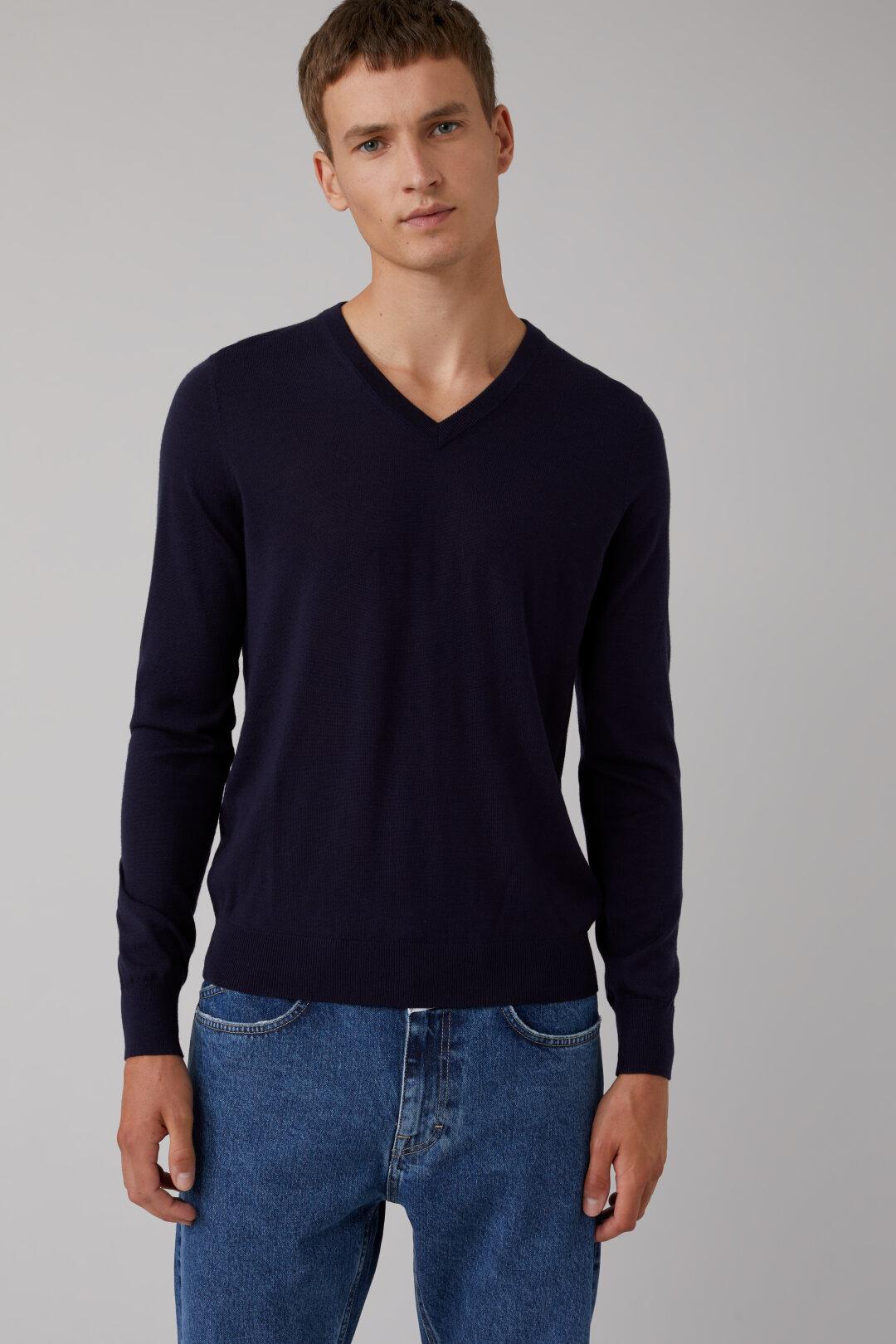 Merino Wool V-Sweater