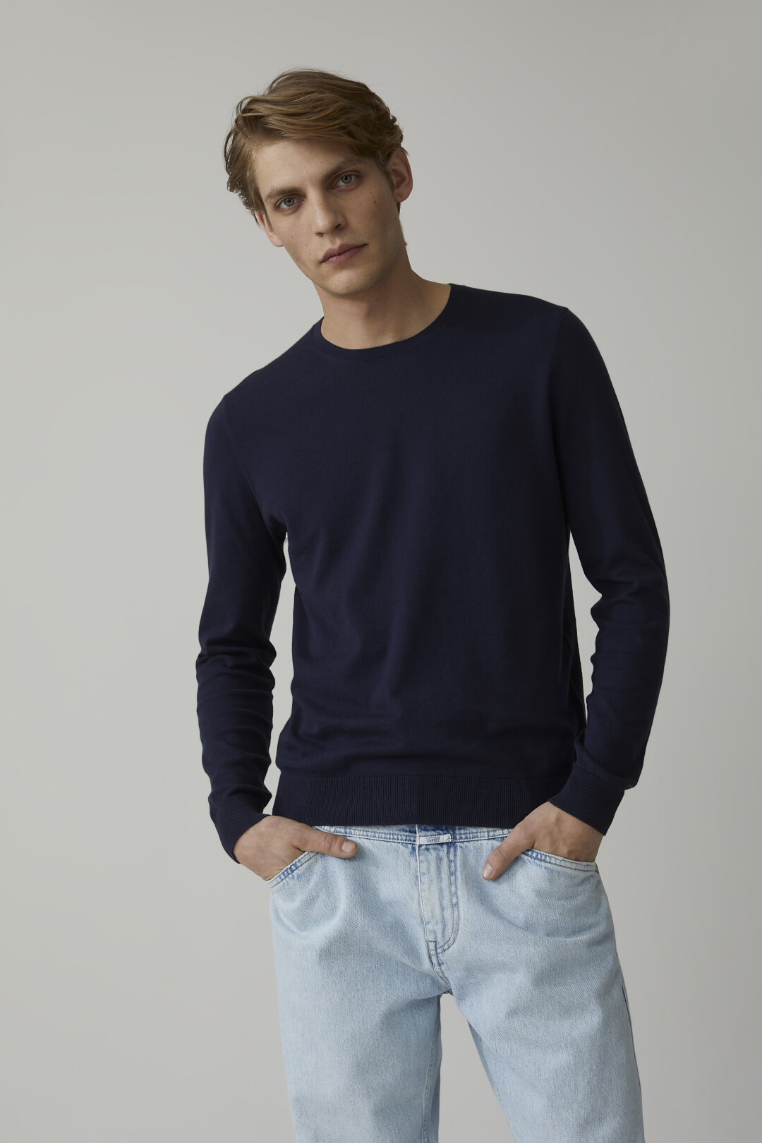Cotton Fine Knit Sweater