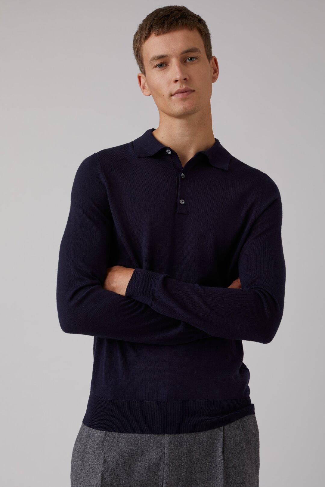 Merino Wool Fine Knit Polo