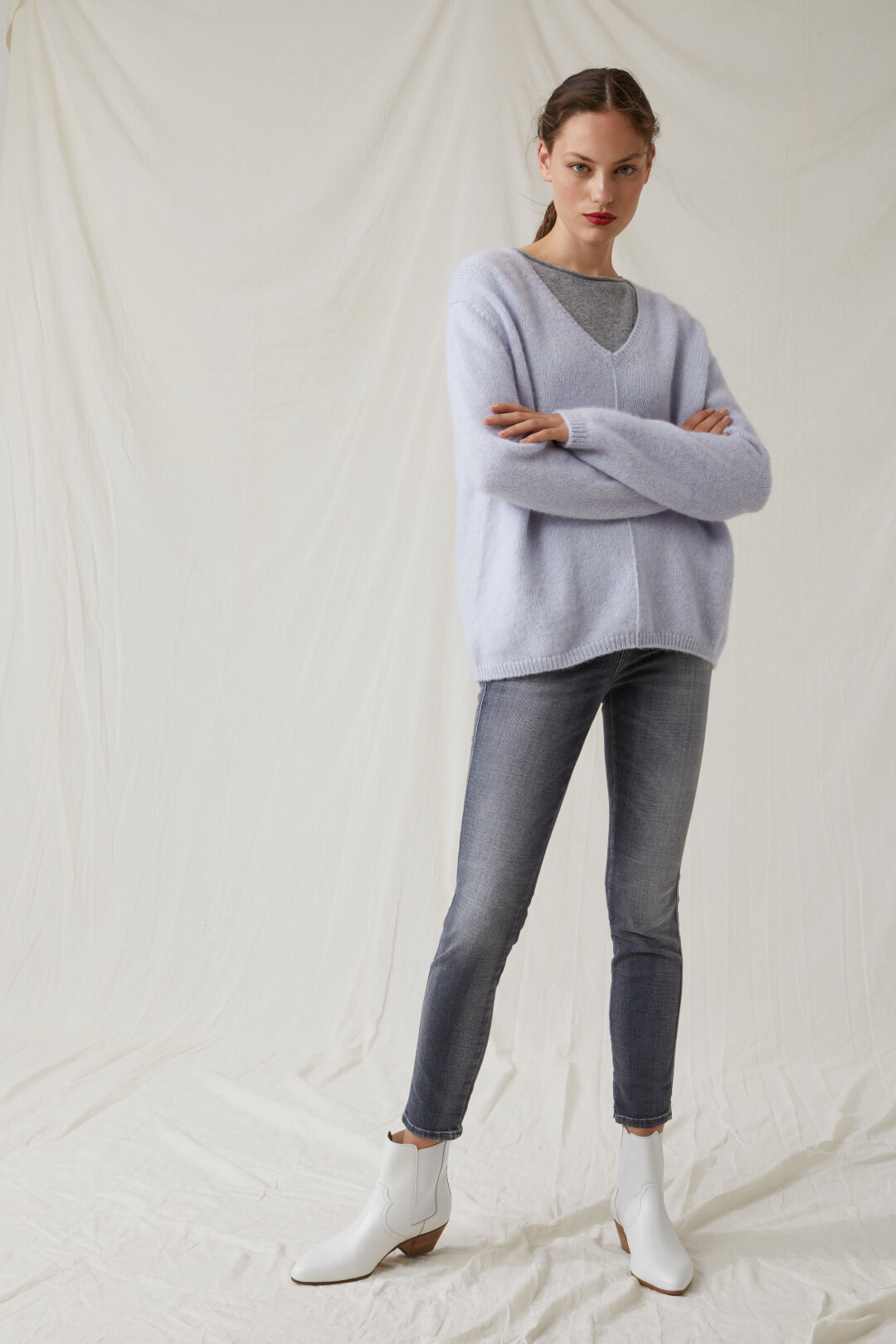 Skinny Pusher Grey Shaper Denim