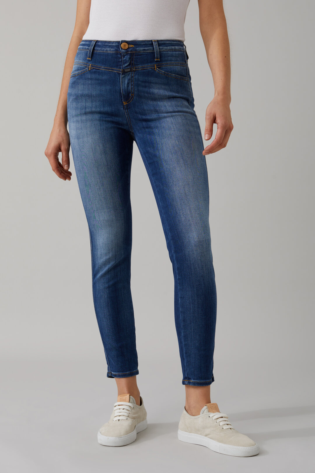 CLOSED C91231 SKINNY Pusher Damen Jeans Hose Gr: 30 blau Neu
