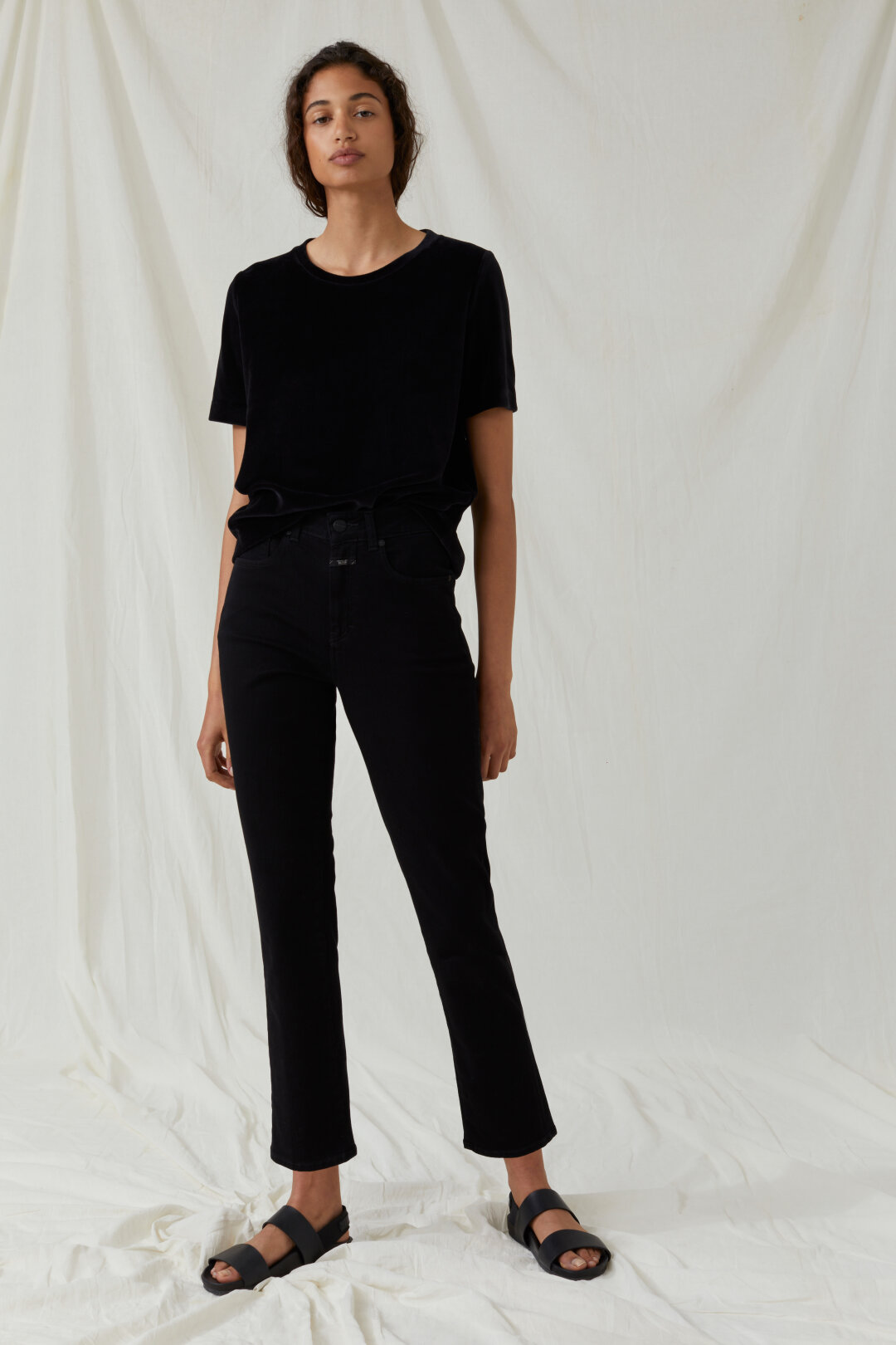Glow Soft Stretch Black Denim