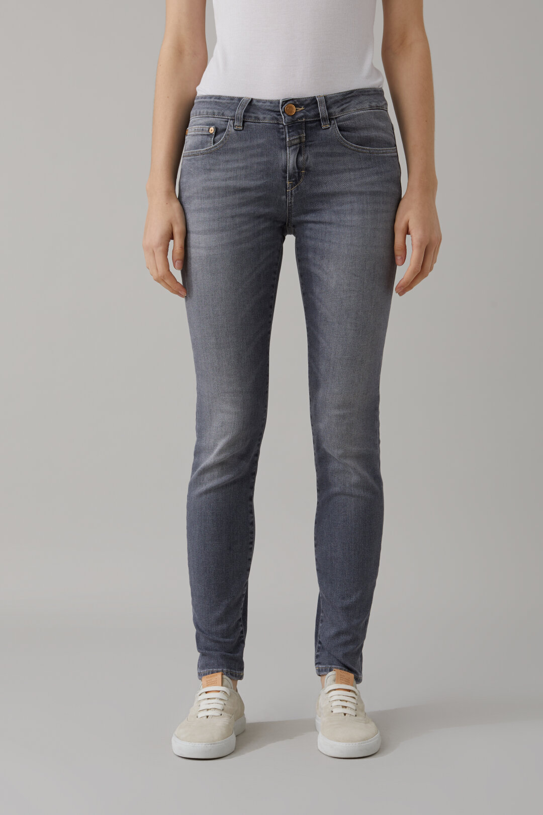 Baker Long Grey Super Stretch Denim