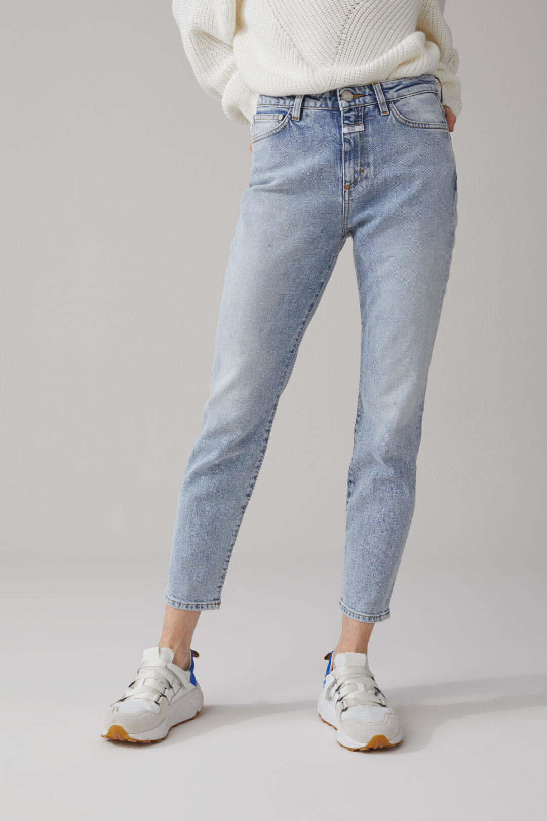 Baker High Blue Stretch Denim