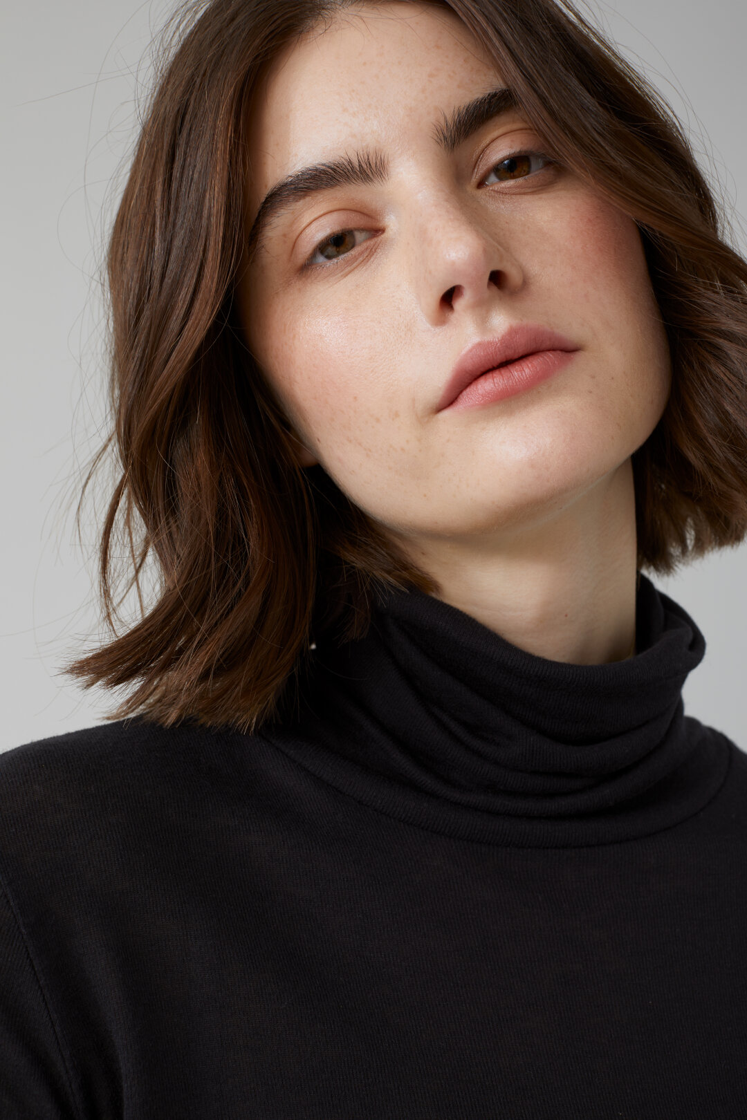 Lyocell & Wool Turtle Neck Shirt
