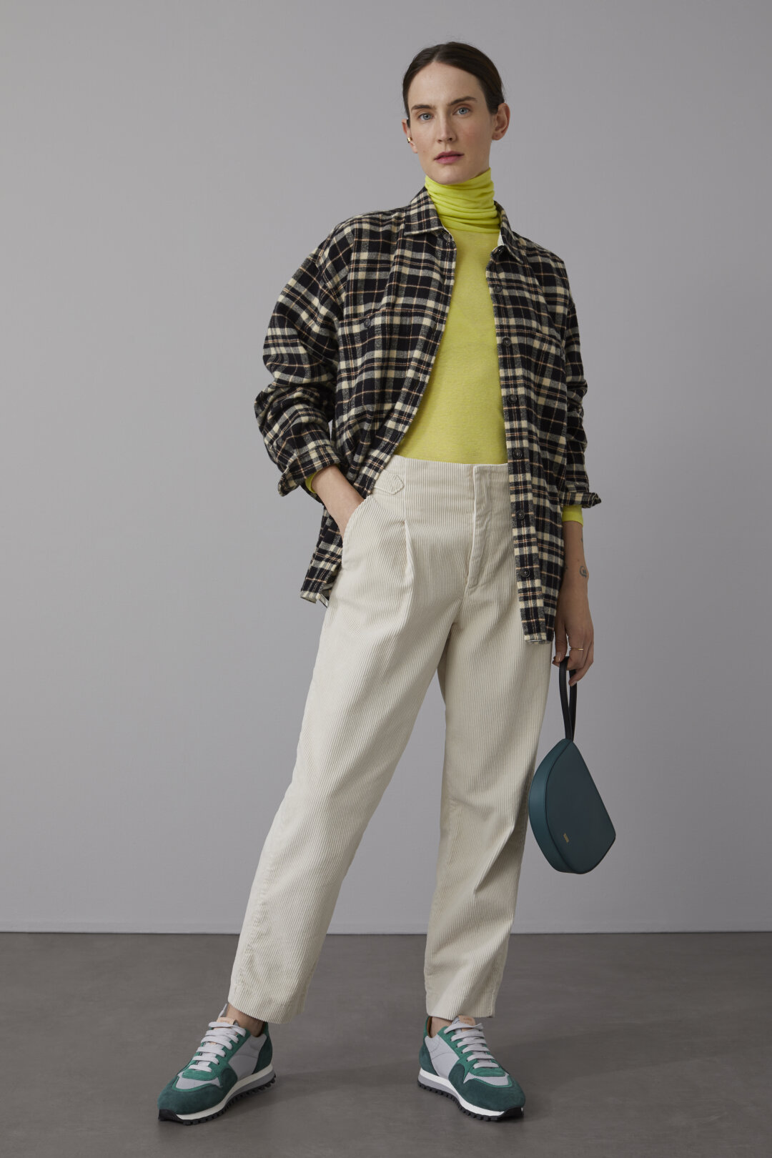 Lyocell & Wool Turtle Neck Shirt