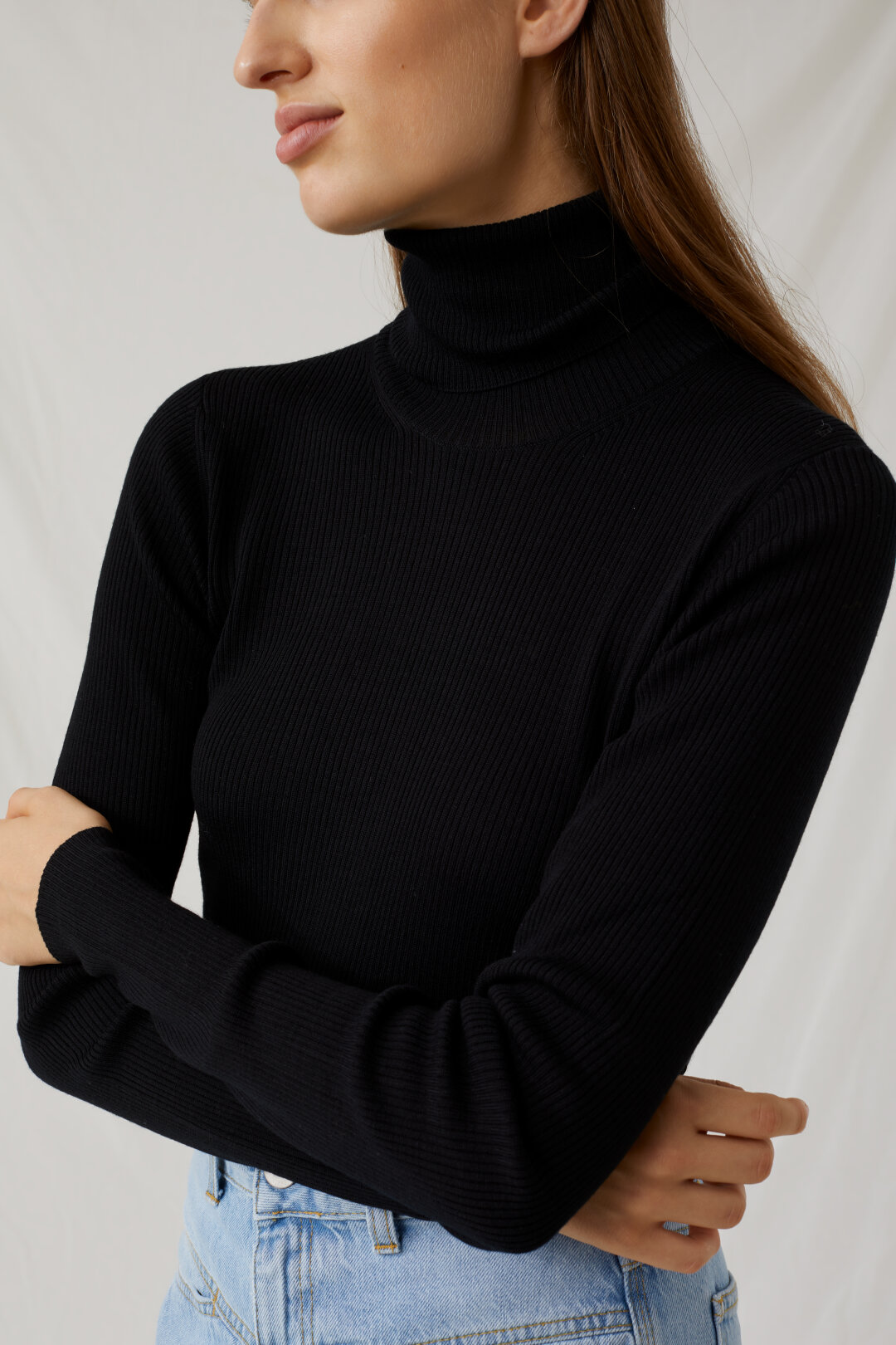 Virgin Wool Turtle Neck Sweater
