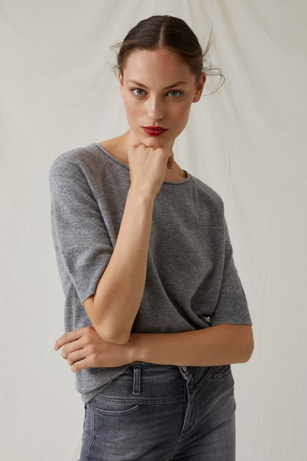 Cashmere Short-Sleeved Sweater