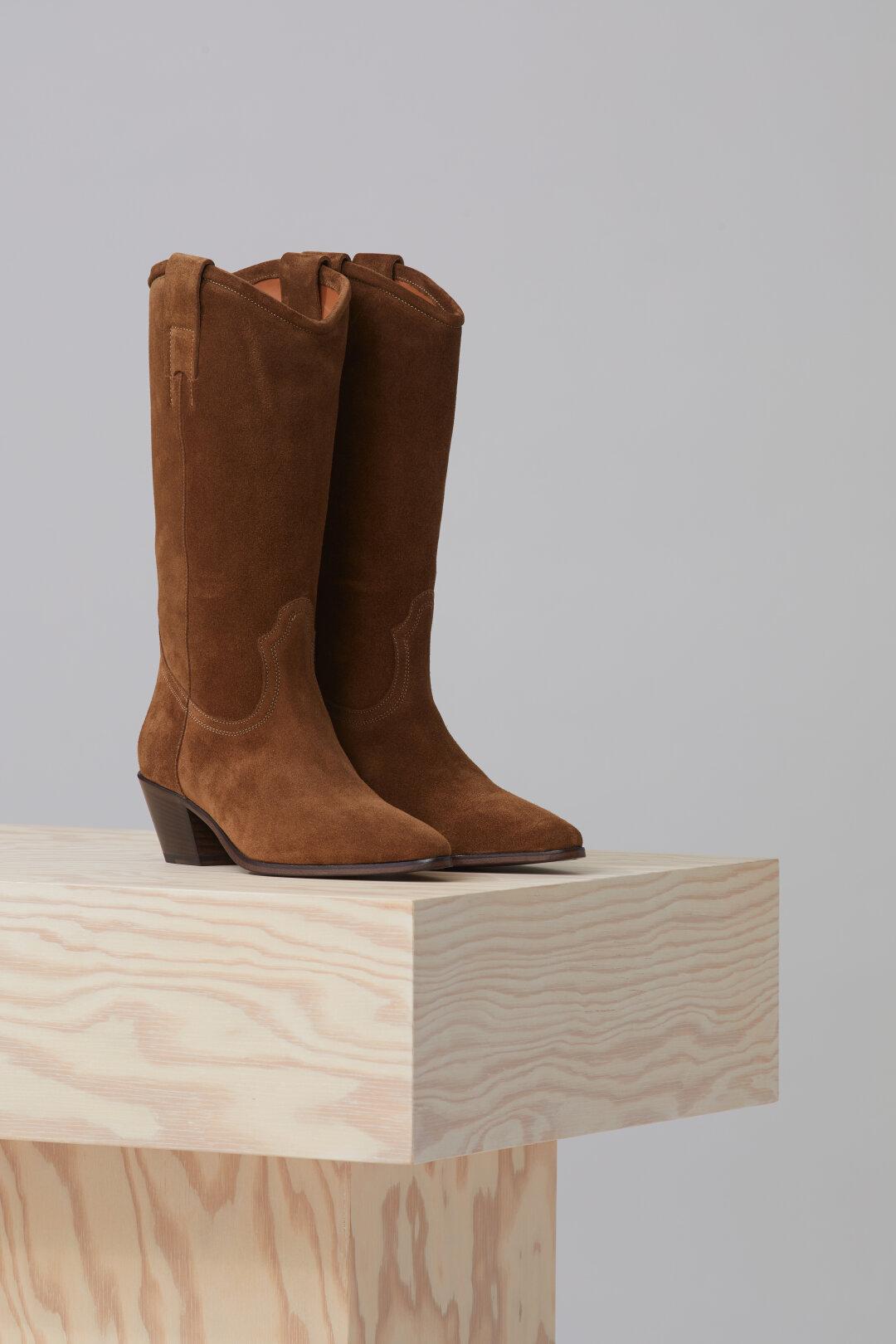 Cowboy Boots aus Veloursleder