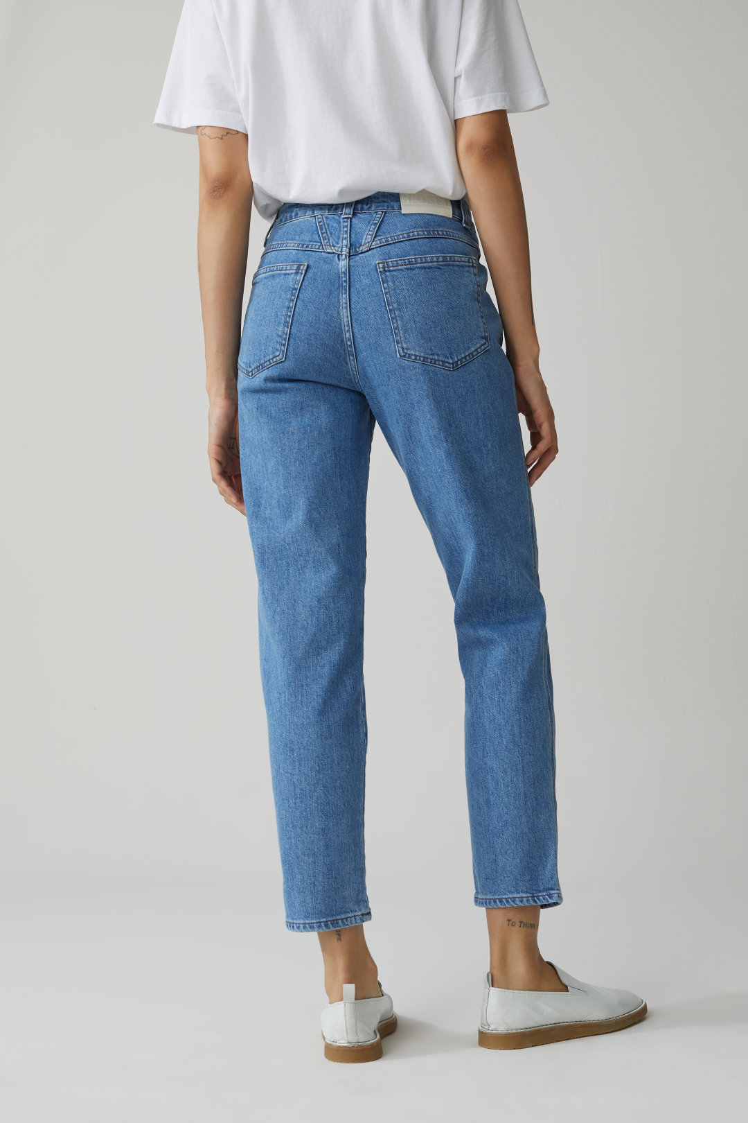 Pedal Pusher Blue Stretch Denim