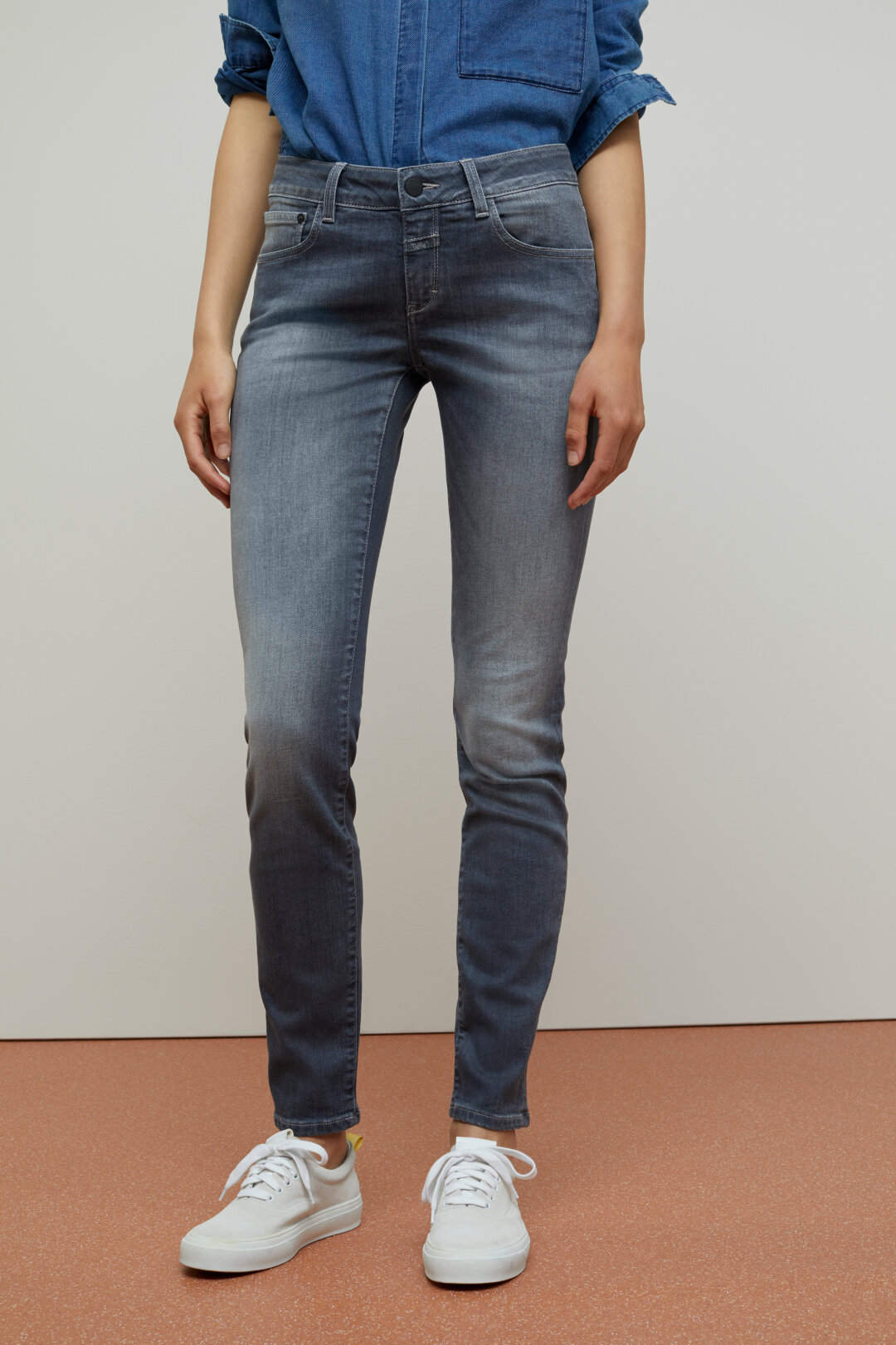 Baker Long Super Stretch Grey Denim