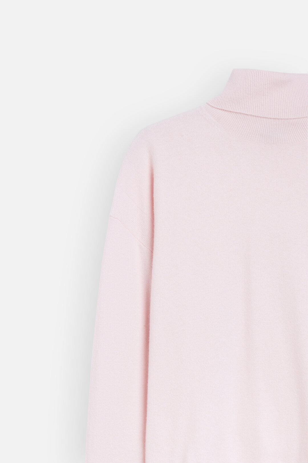 Pullover à col roulé en laine mérino & cachemire