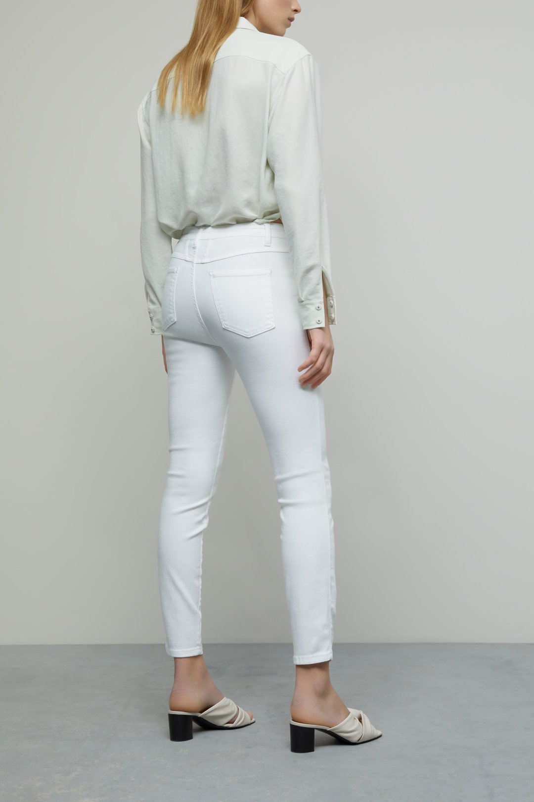 Skinny Pusher Power Stretch Denim White