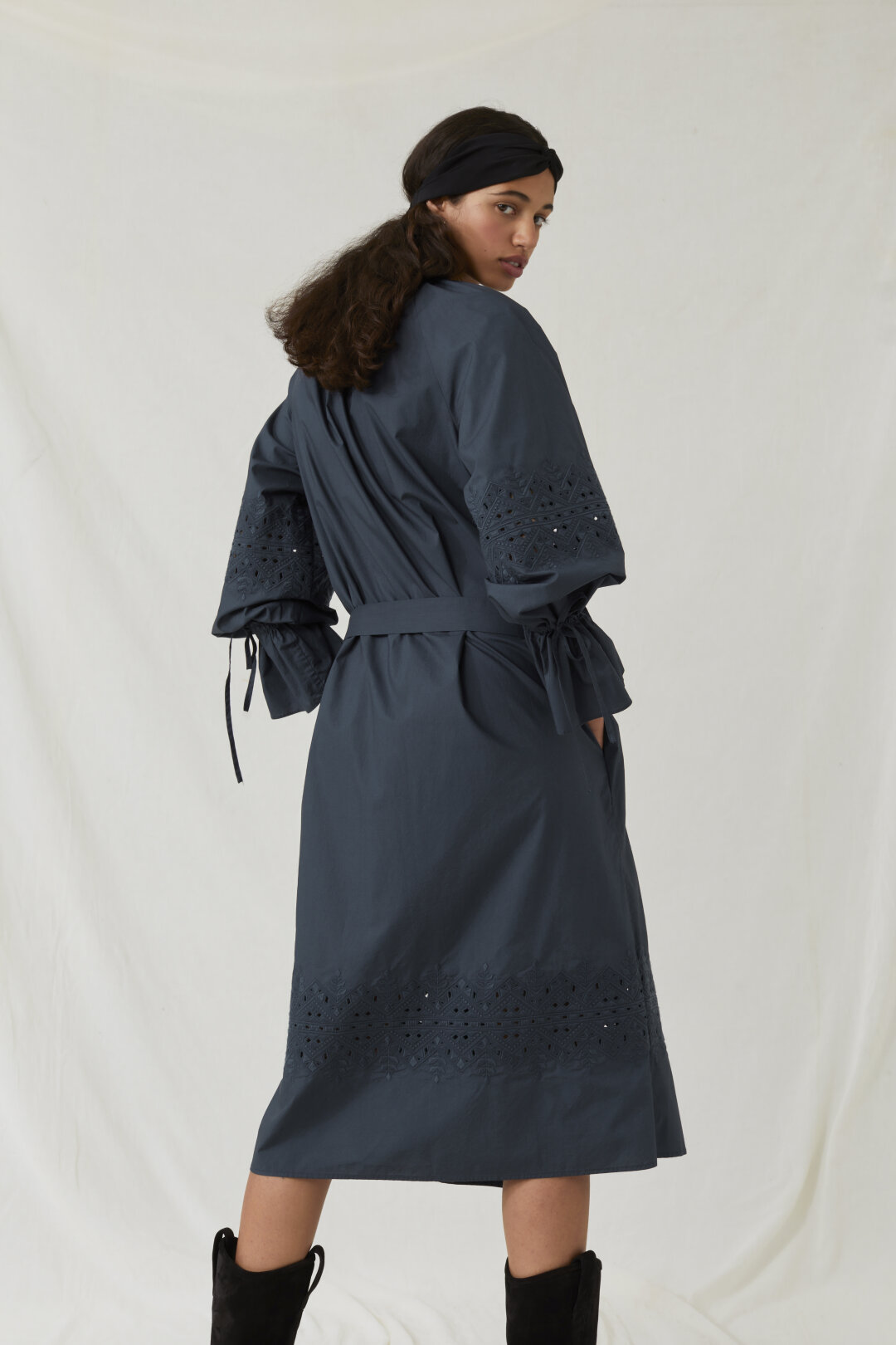 Poplin Dress with Embroideries
