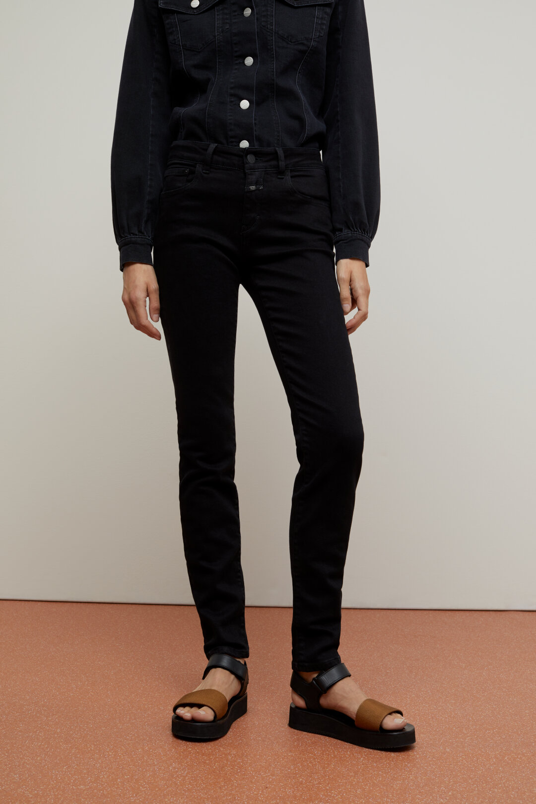 Baker Long Super Stretch Black Denim