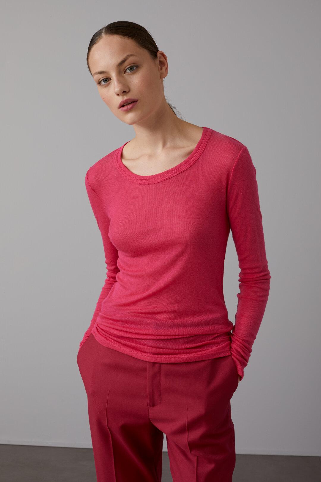 Shirt à manches longues en lyocell & laine