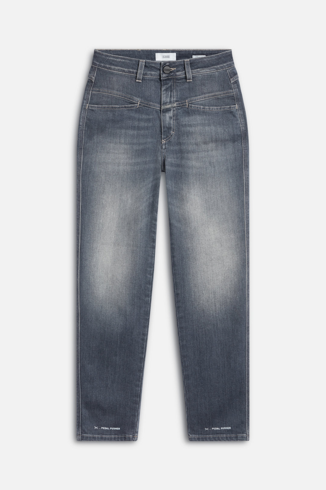 Pedal Pusher Super Stretch Grey Denim