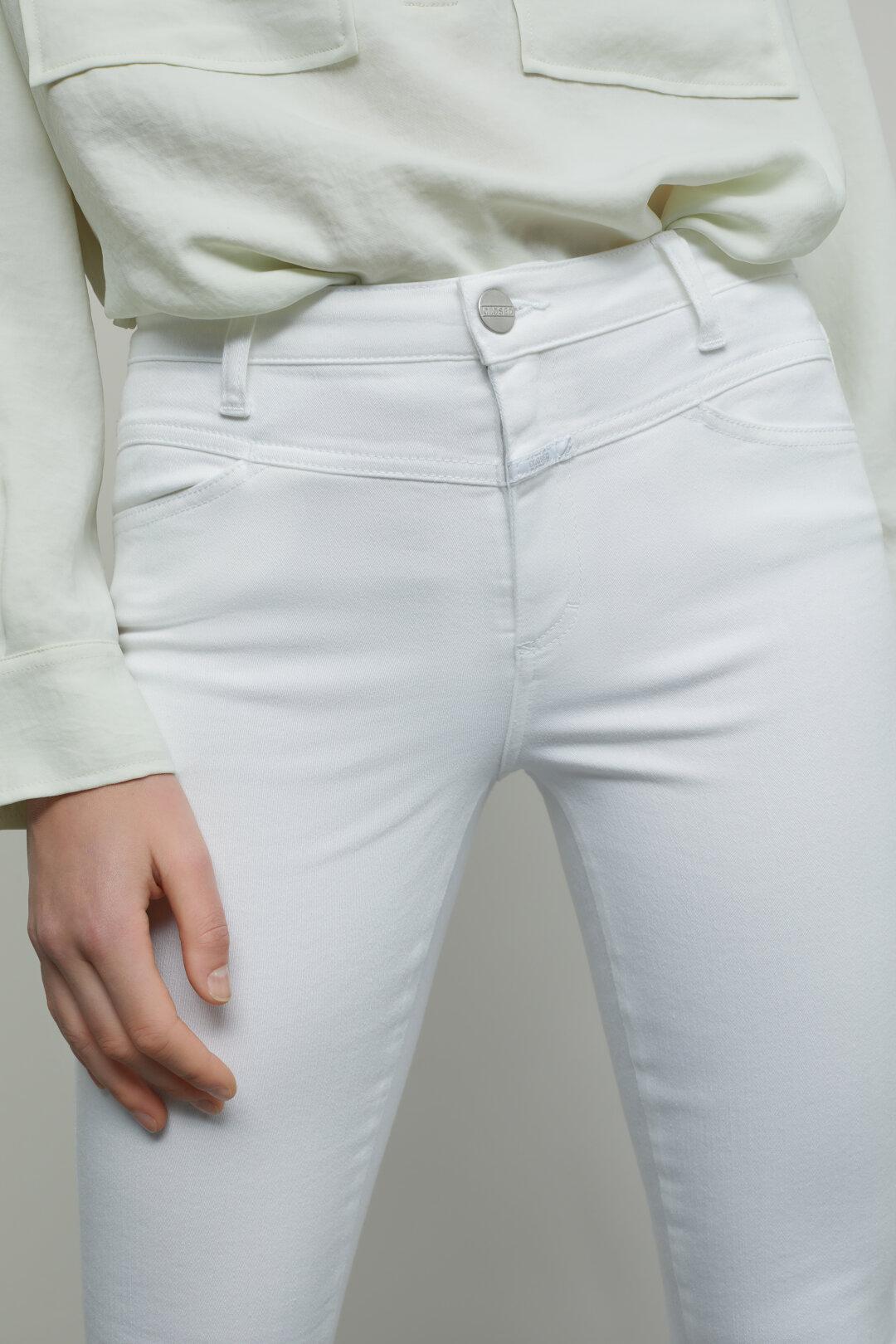 Skinny Pusher Power Stretch Denim White