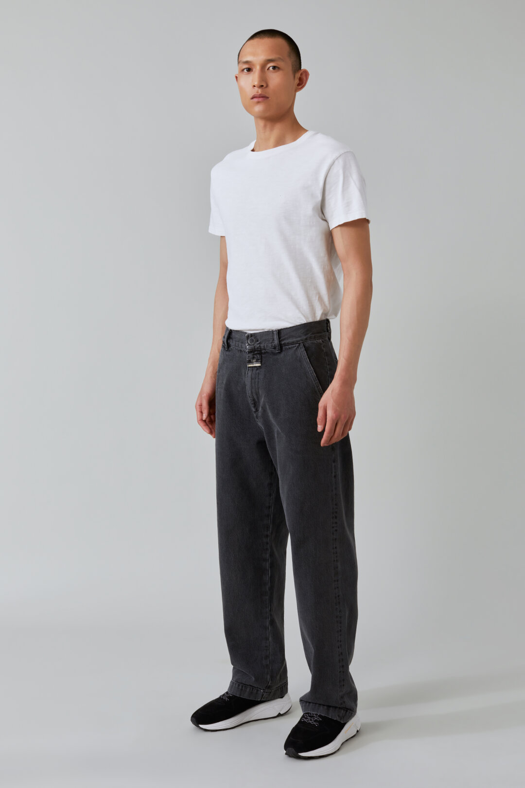 Widey Wide Relaxed Fit Black Selvedge Denim