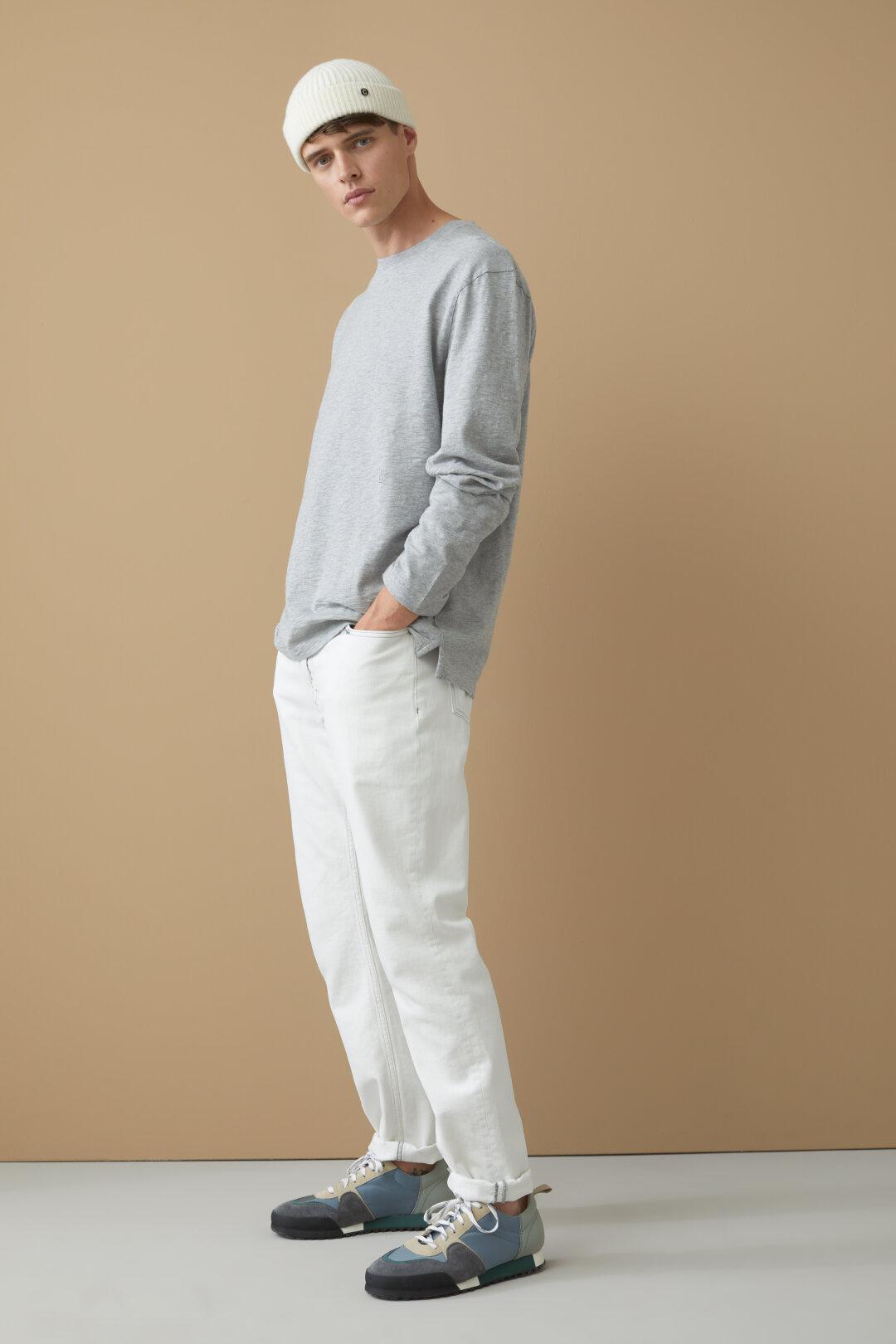 Shirt manches longues en Slub Jersey