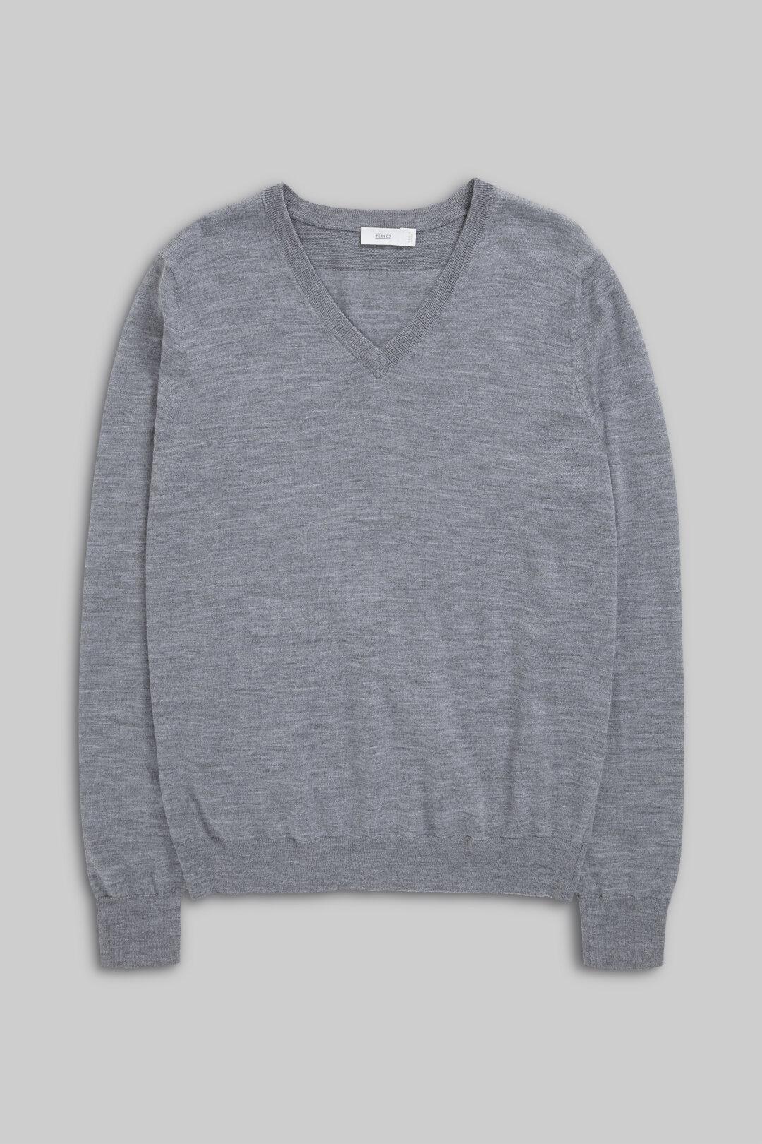 V-Pullover aus Merinowolle
